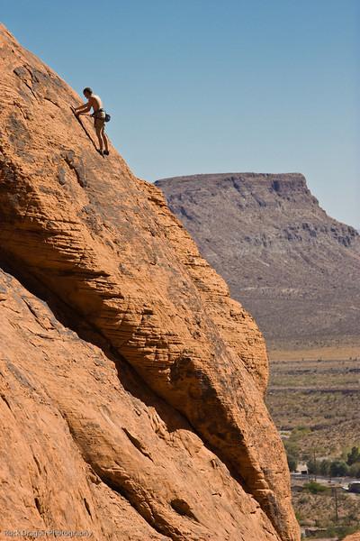 Rock climber, Redrock Canyon, Nevada U.S.
