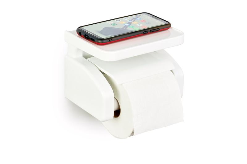 Gelmar Perma Power Suction Toilet Paper Holder White