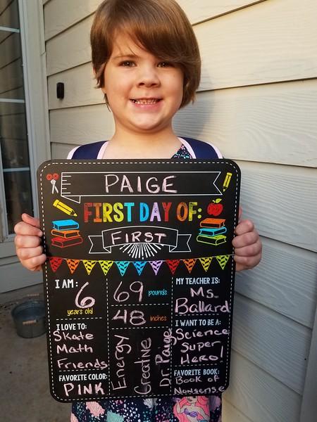 Paige | 1st | Rutledge Elementary School