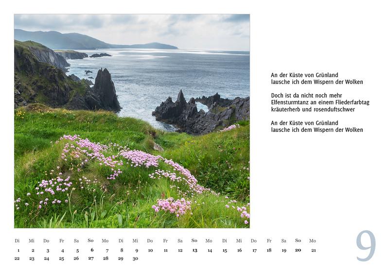 """Foto-Lyrik-Kalender 2020 """"An der Küste von Grünland"""" September"""