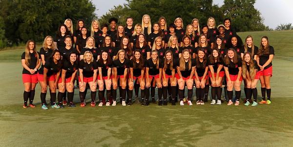 Athletics Women's Soccer Team Photo