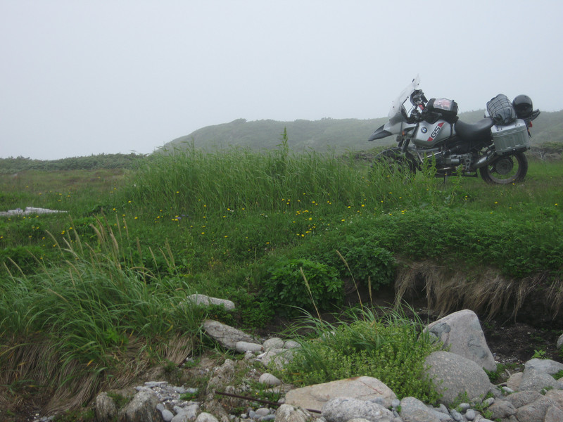 R1150GS at Cape Ray