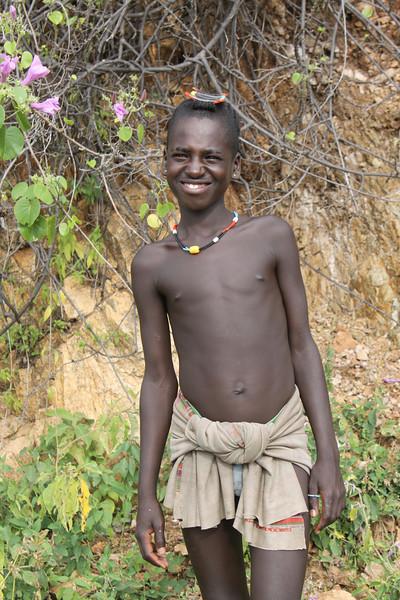 Bena tribe boy on roadside
