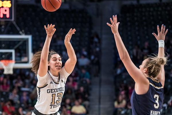 2019 Ga. Tech women vs. Notre Dame, 1-6-19