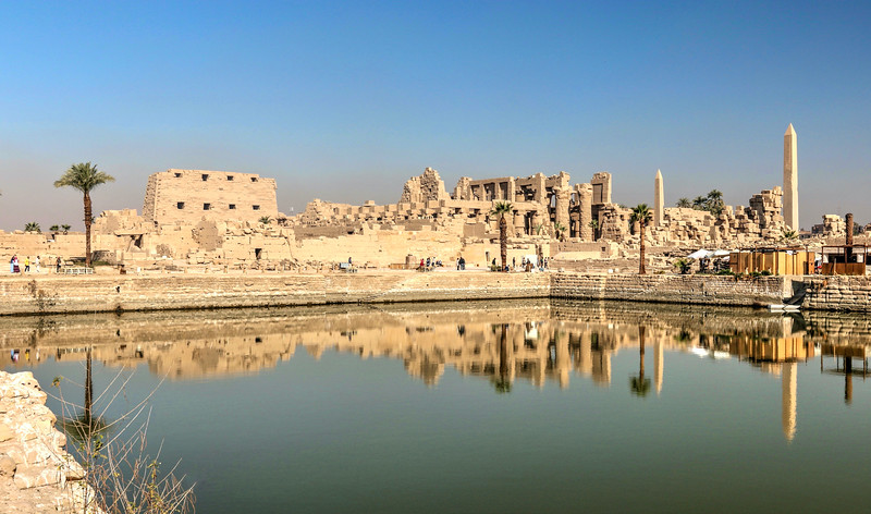 View of Karnak from the Sacred Lake