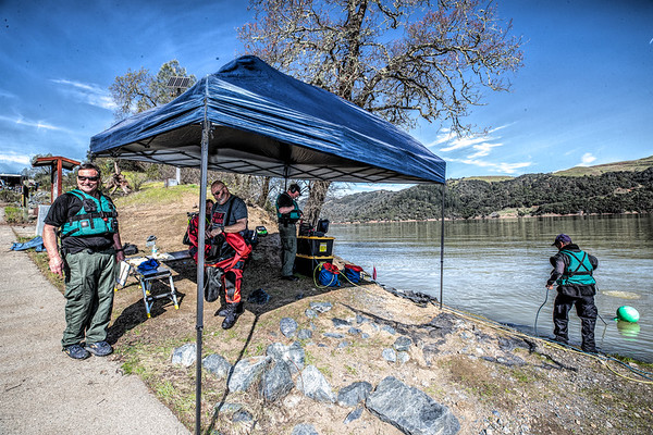 Dive Team Training Lake Sonoma 03-19