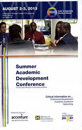University of Michigan, College of Engineering, Summer Academic Development  Conference, August 2, 2013