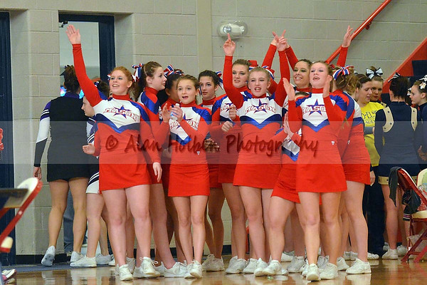 Cheer at Mason Feb 4 - Mason varsity - Round 1