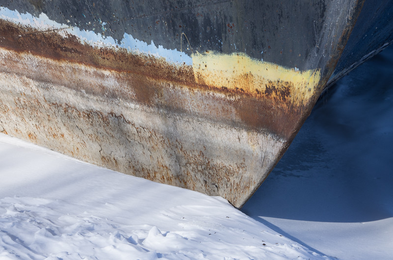 Hull of beached ship on Lake Ontario at Jordan Junction exit from QEW.