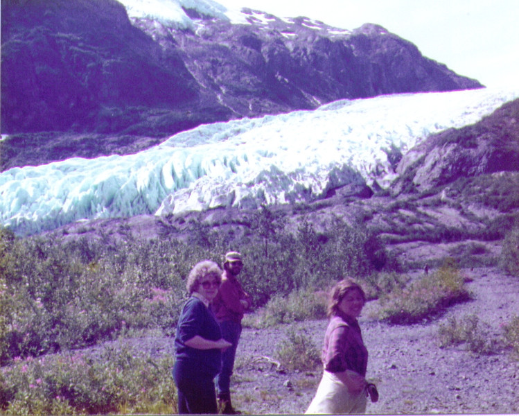 Bonnie,Dave,Connie, on trail to Exit Glacier .jpg