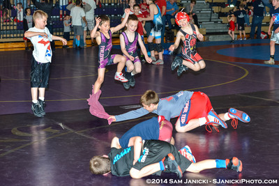 Warm-Up - Kids Divisions - Greco-Roman - Friday 2014 MUSAW 5-9-14