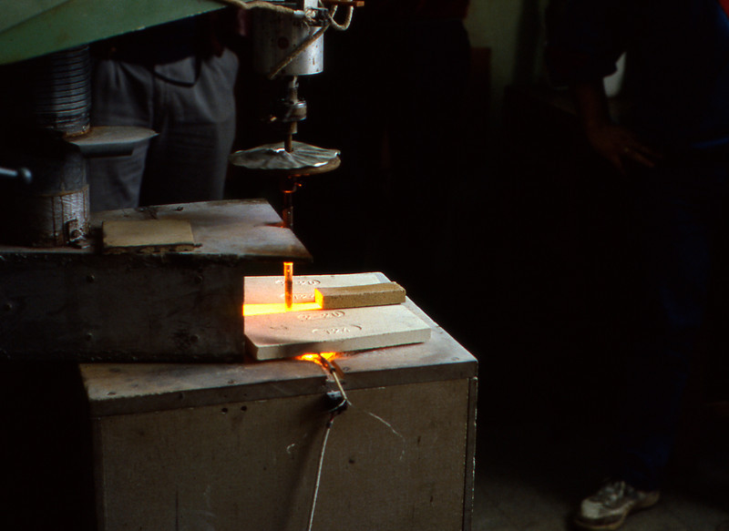 The crucible that makes the glass for Leica M lenses.