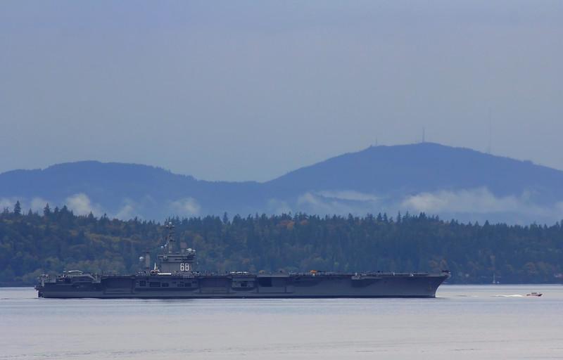 6+ Miles Away - CVN 68 USS Nimitz - Oct 2016