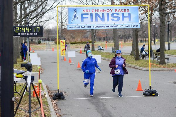 Half-Marathon 01Jan21 Finish Photos