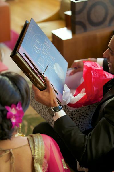 Le Cape Weddings - Indian Wedding - Day 4 - Megan and Karthik Exchanging Gifts 7.jpg