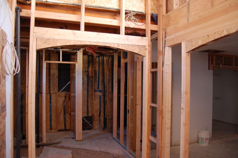 The master bath, looking toward the toilet and shower.