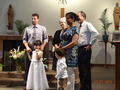 Bella and Santino's Baptism