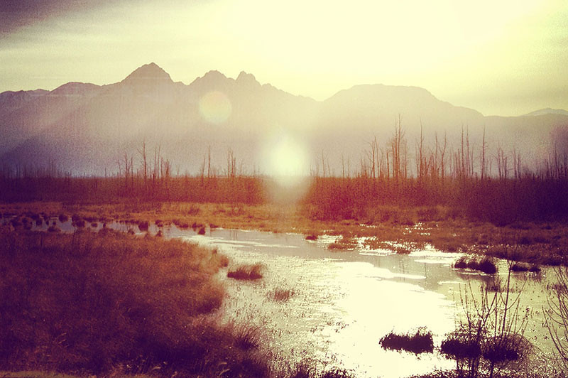 Sun over the Matanuska Valley in Alaska (Photo: Kim Olson)