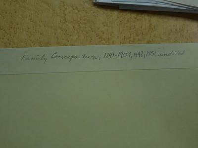 Stebbins Correspondence 1841 through 1951