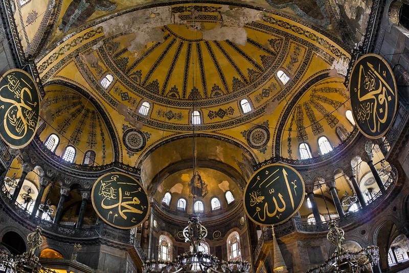 Istanbul, Hagia Sophia: Blick auf Apsis mit Kuppeln