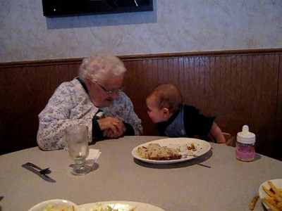 Video, January 3, 2009, Ryan with Grandma Schumacher