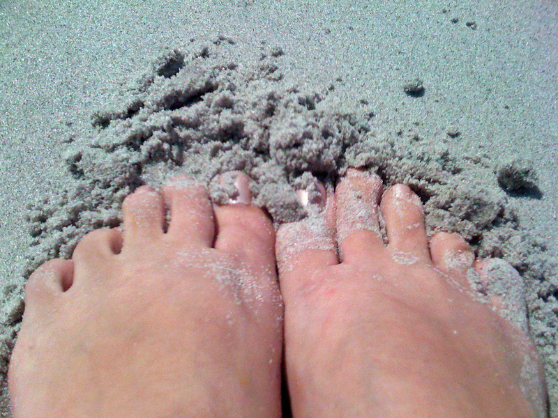 My toes back in the sand again.