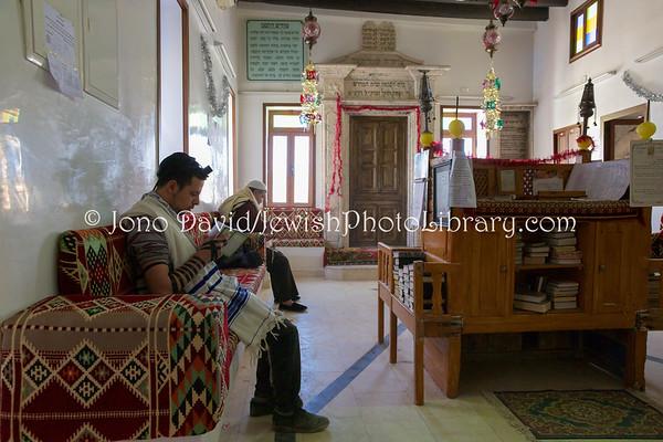 TUNISIA, Djerba, Hara Kebira. Synagogue Rabbi Yitzhak Hori (3.2016)