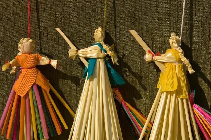 Poland, Cracow, art fair of folk culture and handycrafts on rynek Glowny