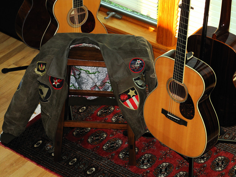 """This was John Stewart's favorite jacket. It was given to me at the Kingston Trio Fantasy Camp X by my friend Tom Delisle. As I told Tom, """"It ain't mine to keep; just mine to wear for awhile""""."""