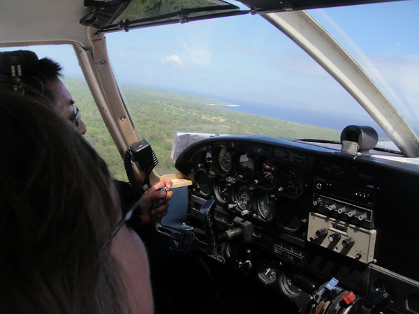 Flight home from Tinian