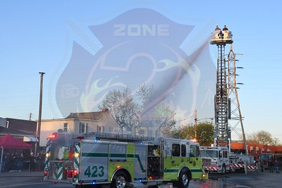 Lynbrook F.D.  Wet Down For Engine 423  4/23/21