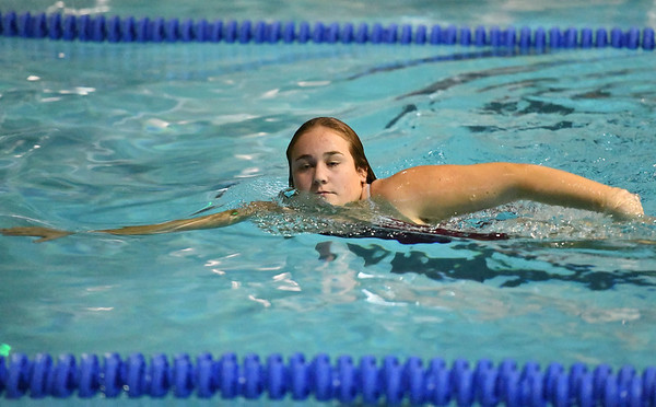 10/29/2019 Mike Orazzi | StaffrBristol Centrals Emma Lewisduring diving at Tuesdays girls swim meet with Bristol Eastern.