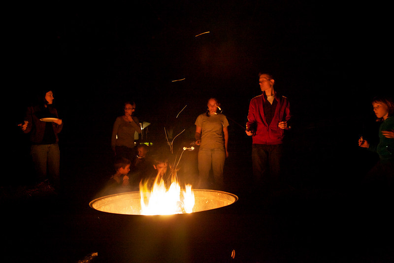 A bonfire at the David house in Mattoon, Illinois on September 25, 2010.  (Jay Grabiec)