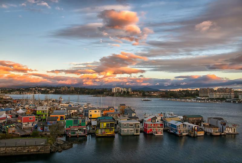 Sunrise at Victoria's Fisherman's Wharf