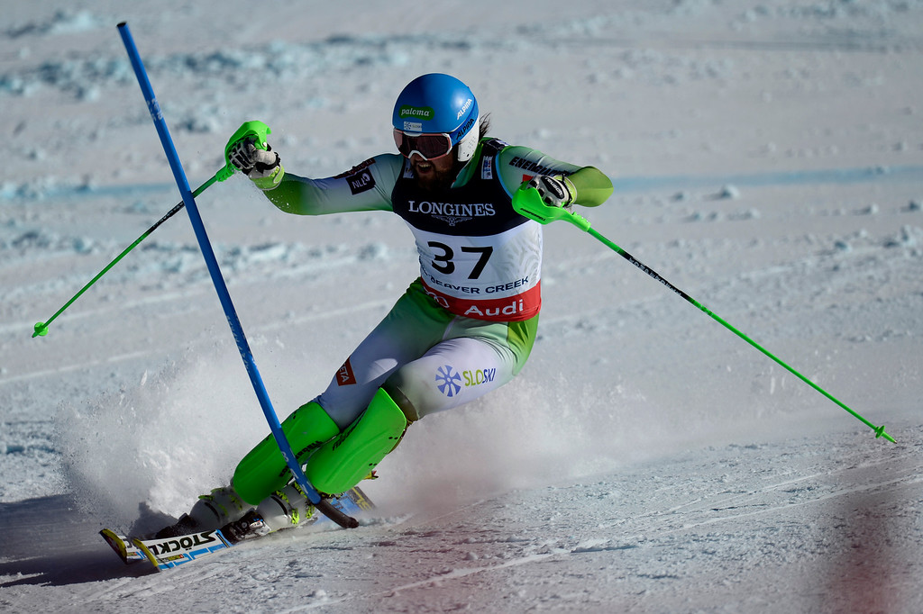 . BEAVER CREEK, CO - FEBRUARY 08: Bostjan Kline of Slovenia competes during the men\'s alpine combined final. FIS Alpine World Ski Championships 2015 on Sunday, February 8, 2015. (Photo by AAron Ontiveroz/The Denver Post)