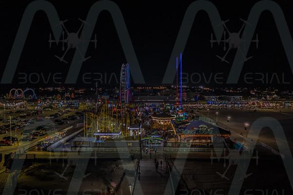 Ocean City Boardwalk At Night