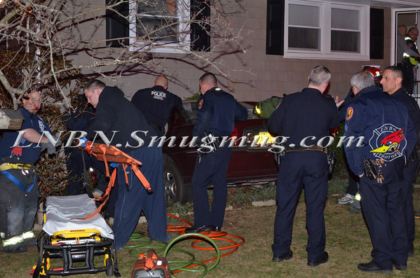 Bellmore F.D.  Car vs House 2621 S. Saint Marks Avenue 4-6-13