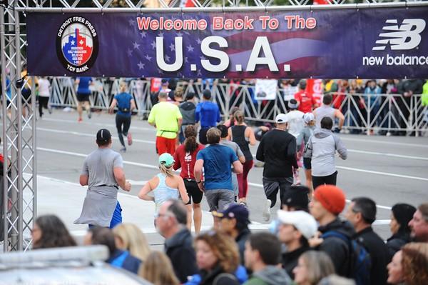 Tunnel Exit to USA - 2019 Freep Marathon