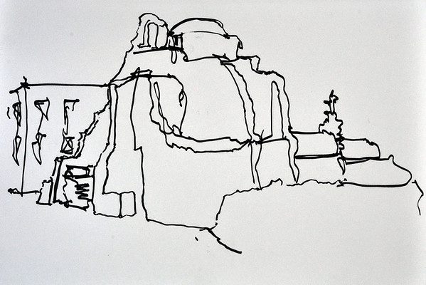 2012 Greek Island Sketch Trip on Mykonos and Santorini