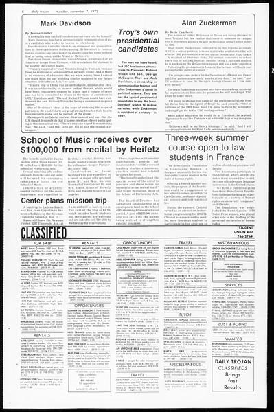 Daily Trojan, Vol. 65, No. 34, November 07, 1972