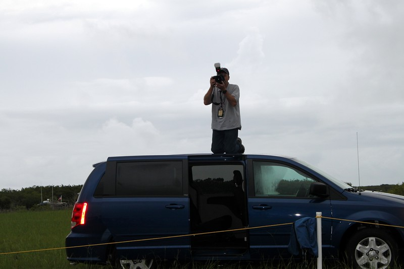 Senior NASA photographer and photo editor Paul Alers takes our group photo
