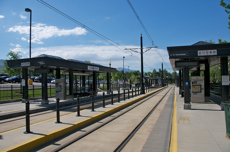 Trax Station at University of Utah