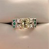 2.10ct Art Deco Peruzzi Cut Diamond Ring, GIA W-X SI2 36