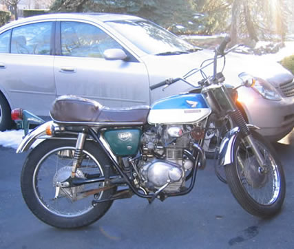 1968 Honda CL350 when we first got it.