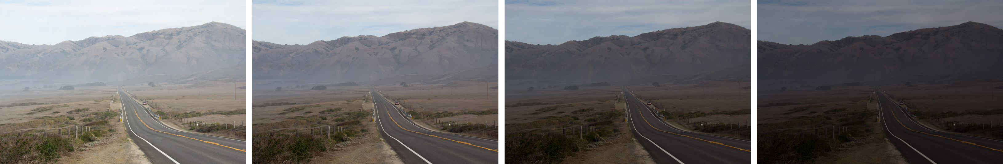 HDR Bracketed Shots: Open Road to the Mountains (California)