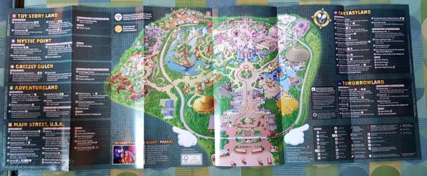 Disneyland Resort, Hong Kong Disneyland, Guide Map