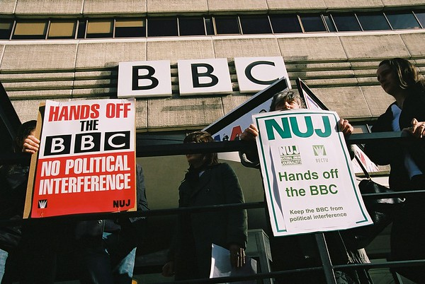 NUJ protest at BCC Manchester - February 2004
