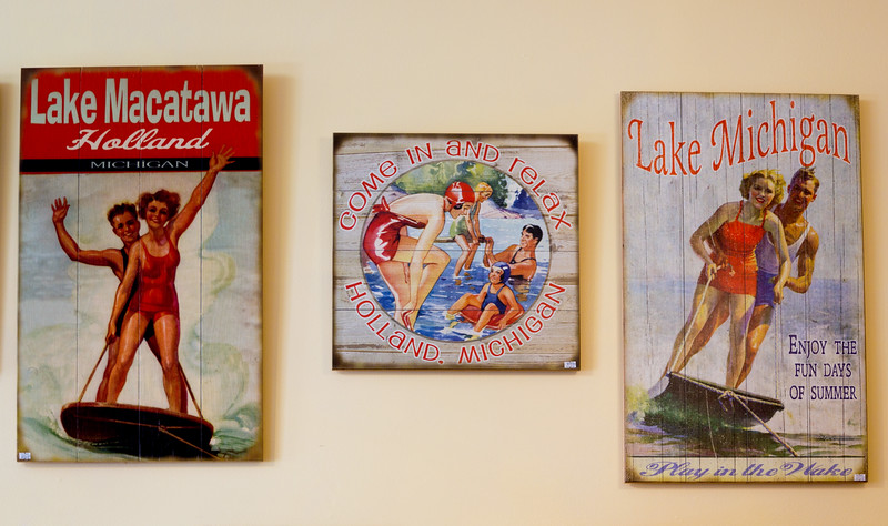 Antique regional tourism posters