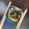 4.57ct Fancy Dark Greenish Yellow Brown Asscher Cut Diamond GIA 36