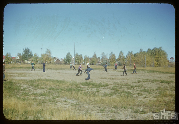 High scool baseball at the Convent.  Val Marie.  10/05/1954